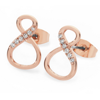8 Shape Infinity Stud Earrings