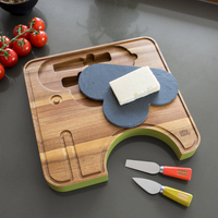 Cheese Board with Knives