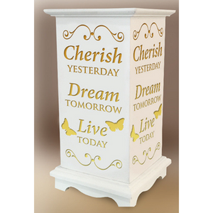Cherish Yesterday, Dream Tomorrow, Live Today LED Lantern