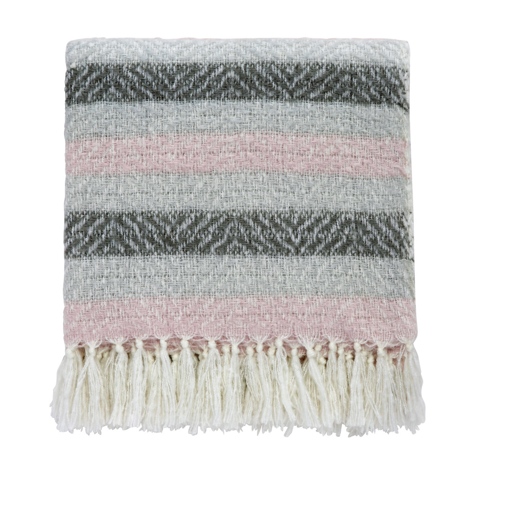 Liv/Arken Woven Throw- Blush