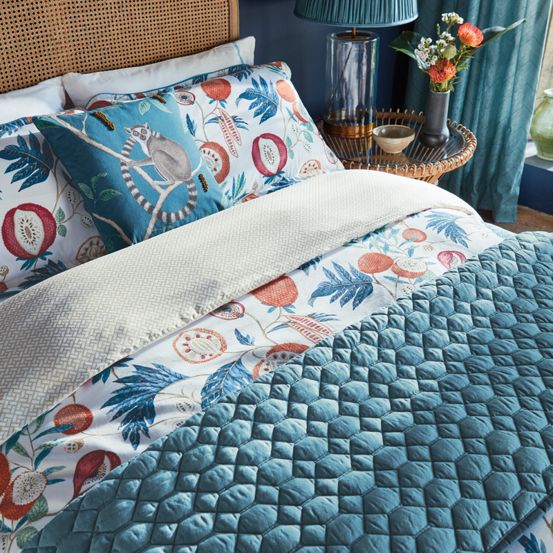 Jackfruit Duvet Cover in Indigo