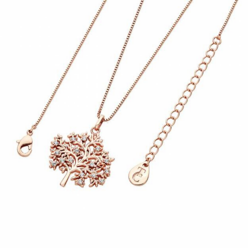 Rose Gold Tol Pendant With White CZ