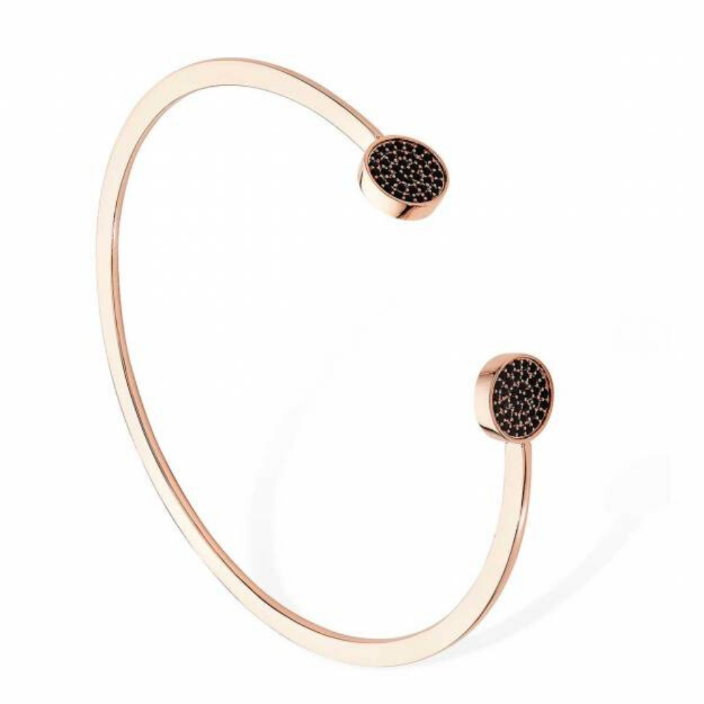 Noir Rose Gold 2 Circle Pave Bracelet