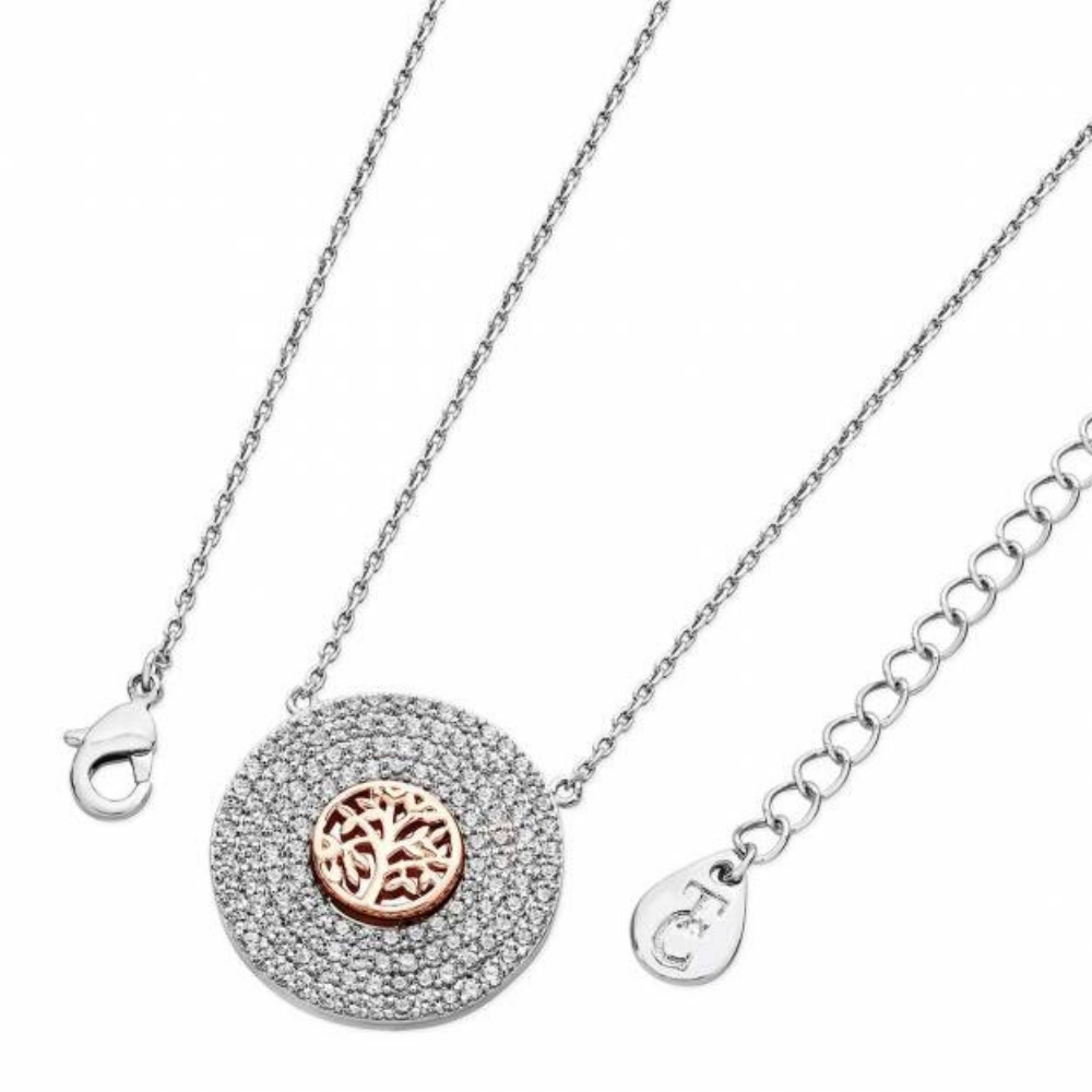 Silver Pendant With 3 Drop Silver Pave Pendant With Tol In Centre