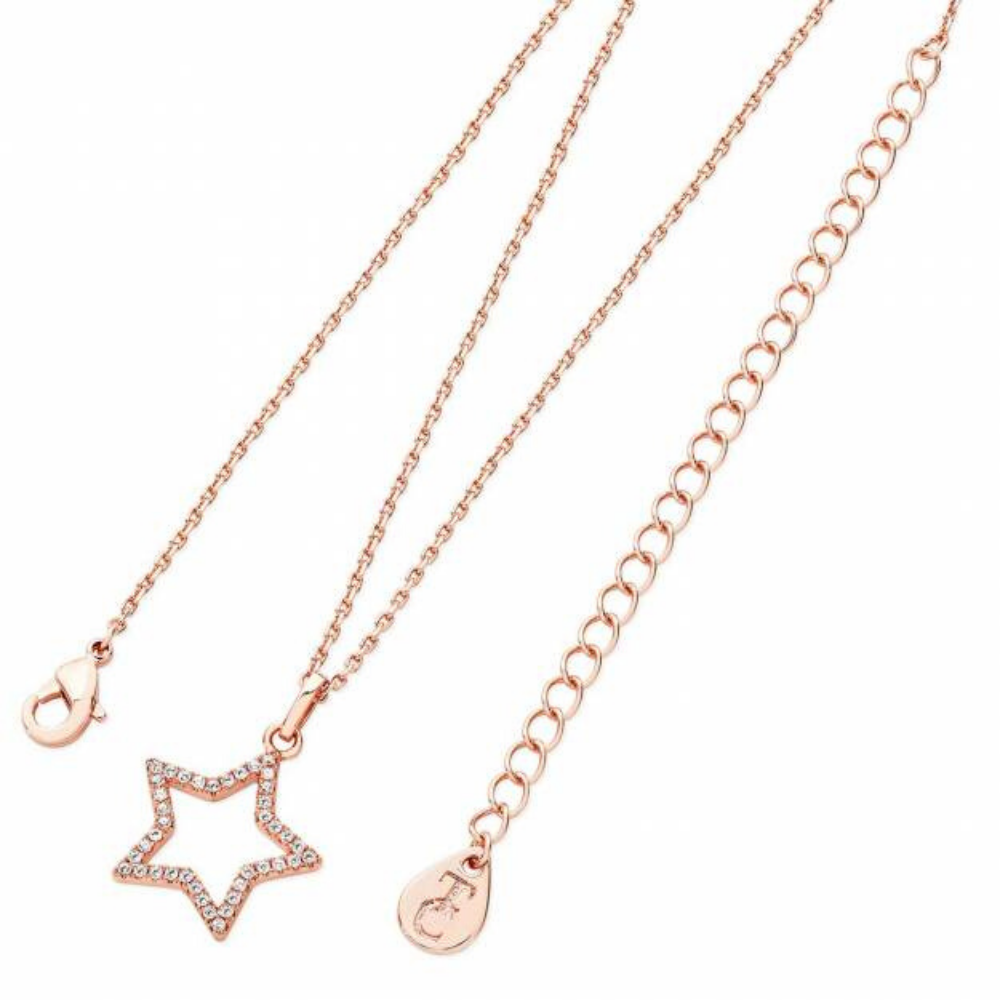 Star Pendant Open Rose Gold