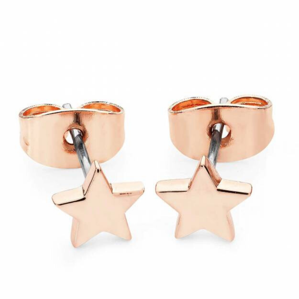 Star Mini Stud Earrings Rose Gold