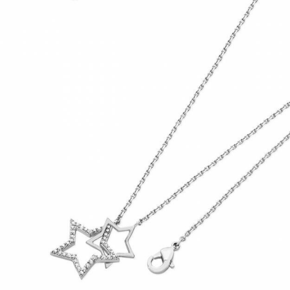 Silver Star Interlocking Pendant