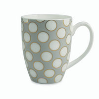 Spots & Strips Mugs Set of 6- Grey