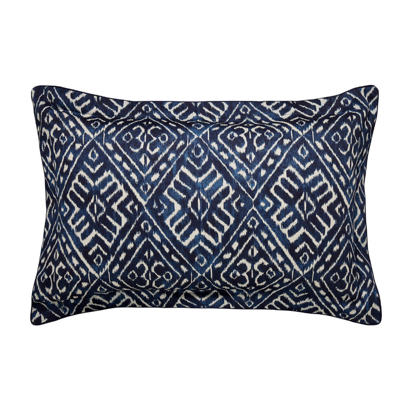 Cadenza Oxford Pillowcase- Indigo
