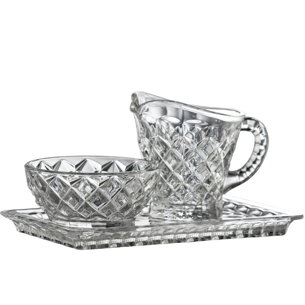 Ashford Sugar, Cream & Tray Set