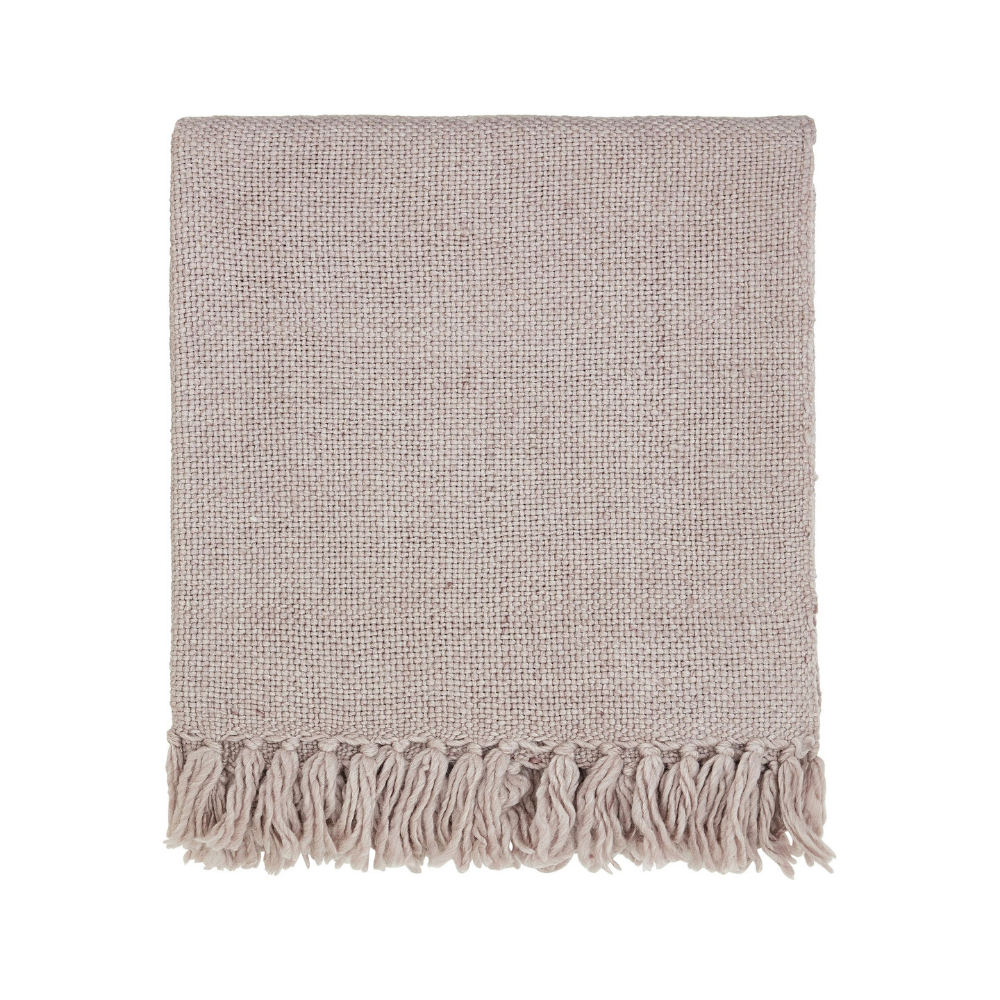 Freya Woven Throw- Blush