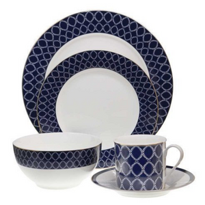 Blue Net 20 Piece Dinner Set