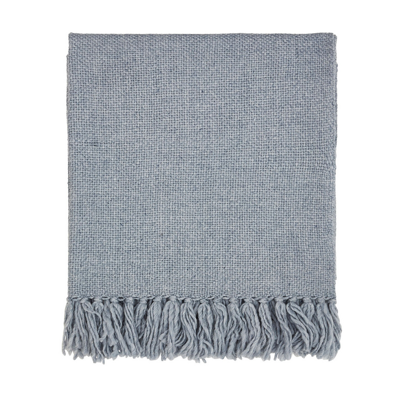 Freya Woven Throw- Sky Blue