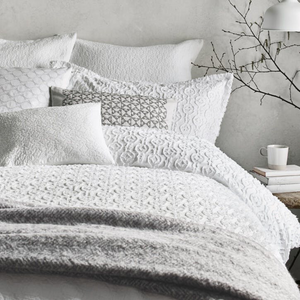 Murmur Cosy Woven Throw, Cloud Grey