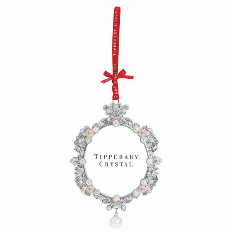 Tipperary Crystal Pearl Frame Christmas Decoration