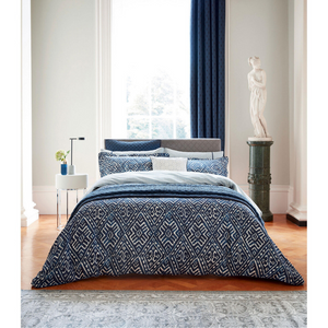 Cadenza Quilted Throw- Indigo