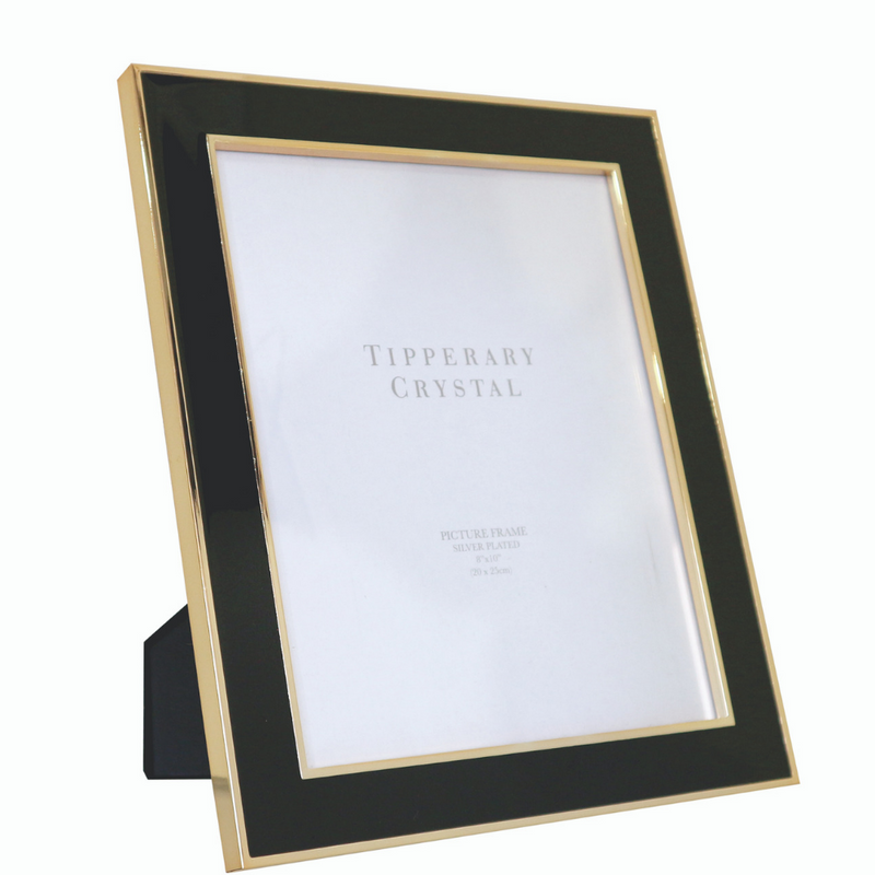 Black Enamel Frame with Rose Gold Edging