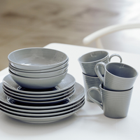 Gordon Ramsay Maze 16 Piece Dinnerware Set- Grey