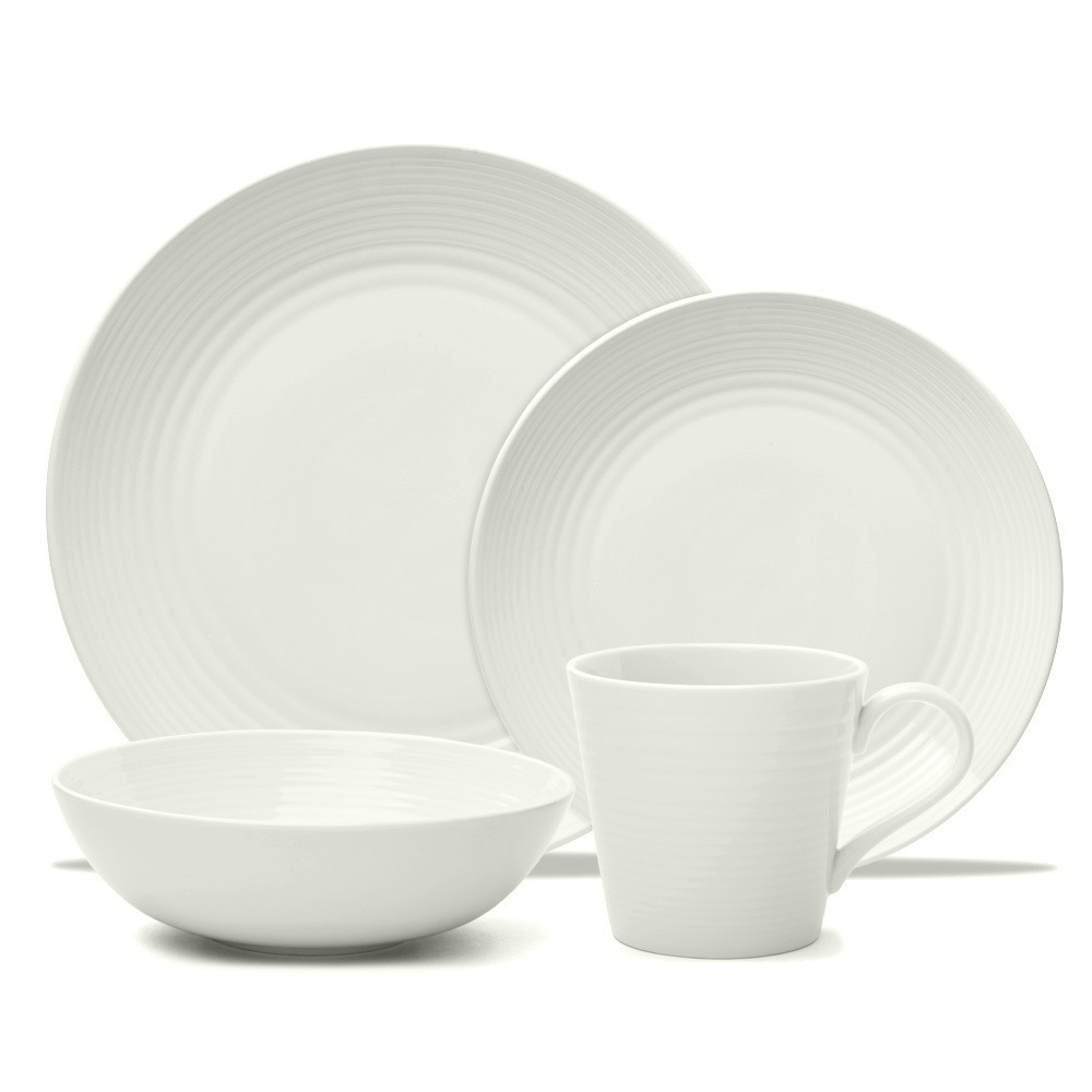 Gordon Ramsay Maze 16 Piece Dinnerware Set- White