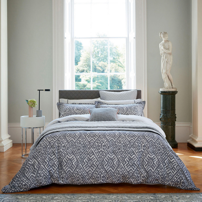 Cadenza Quilted Throw- Grey