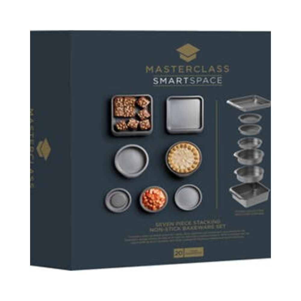 MasterClass Smart Space 7-Piece Stackable Non-Stick Bakeware Set