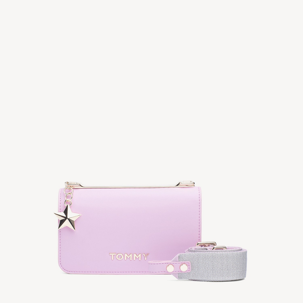AW06438B, Tommy Hillfiger pink lavender crossbody