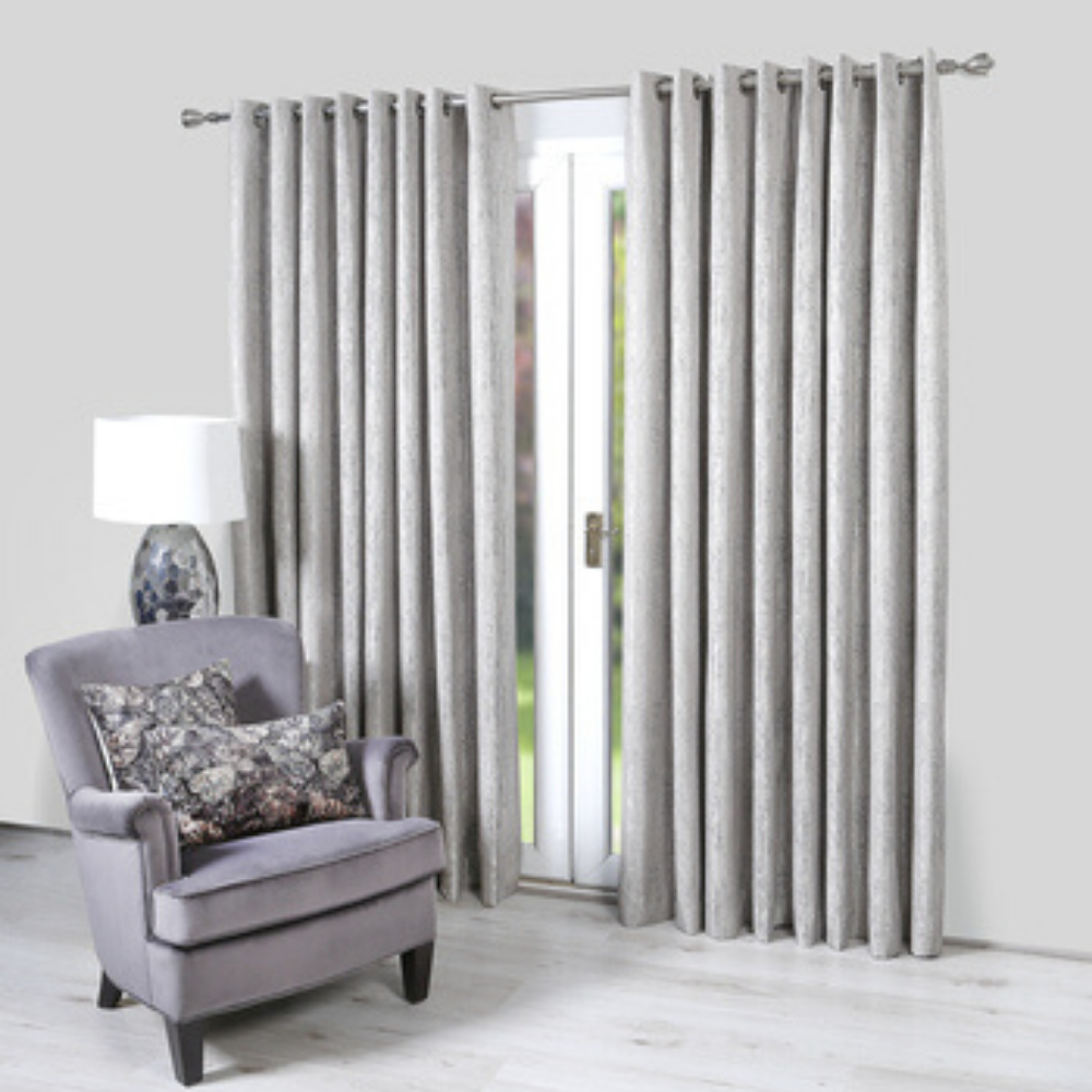 Valencia Eyelet Curtains-Graphite