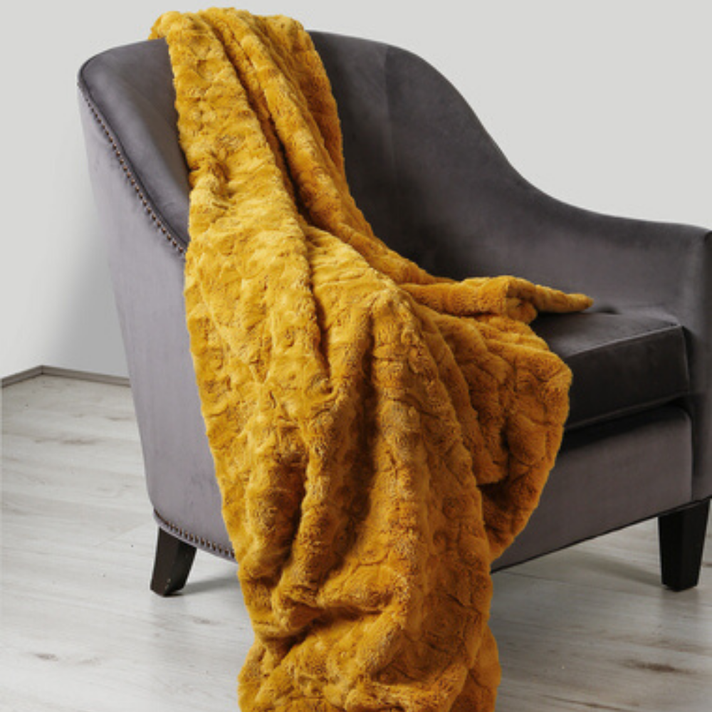Hepburn Throw, Ochre