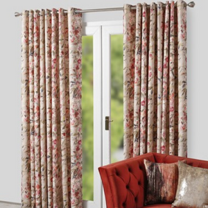 Eve Eyelet Curtains- Rose