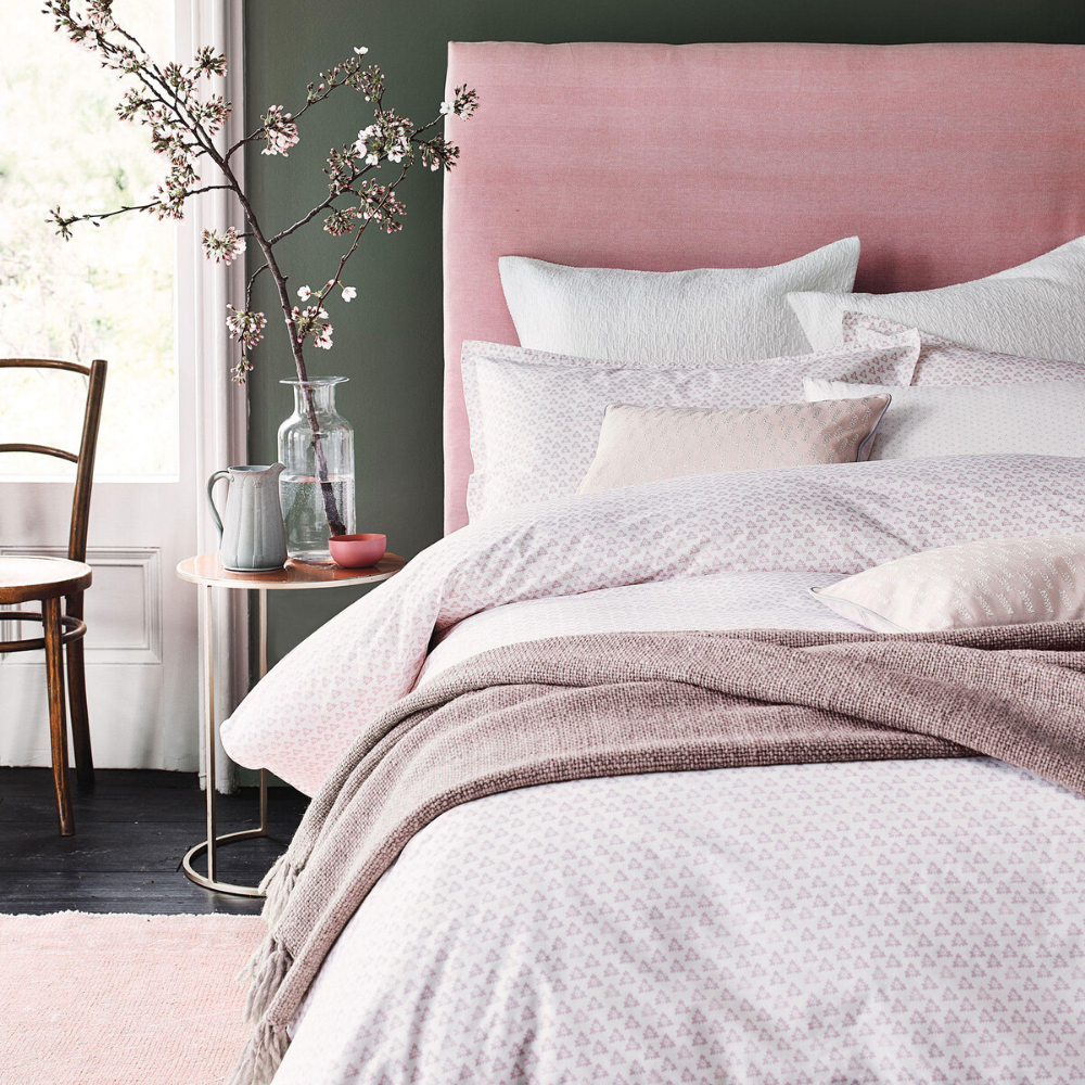 Murmur Tua Duvet Set in Blush