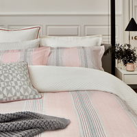 Kala Duvet Cover in Coral