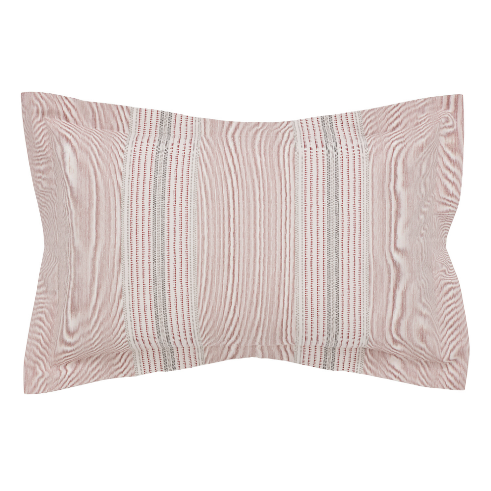 Kala Oxford Pillowcase- Coral