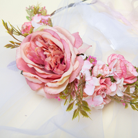 Bride Floral Veil - Boho Hen Party