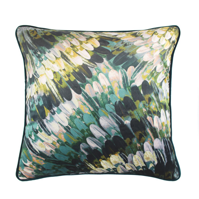 Kingfisher 43x43cm Cushion, Teal