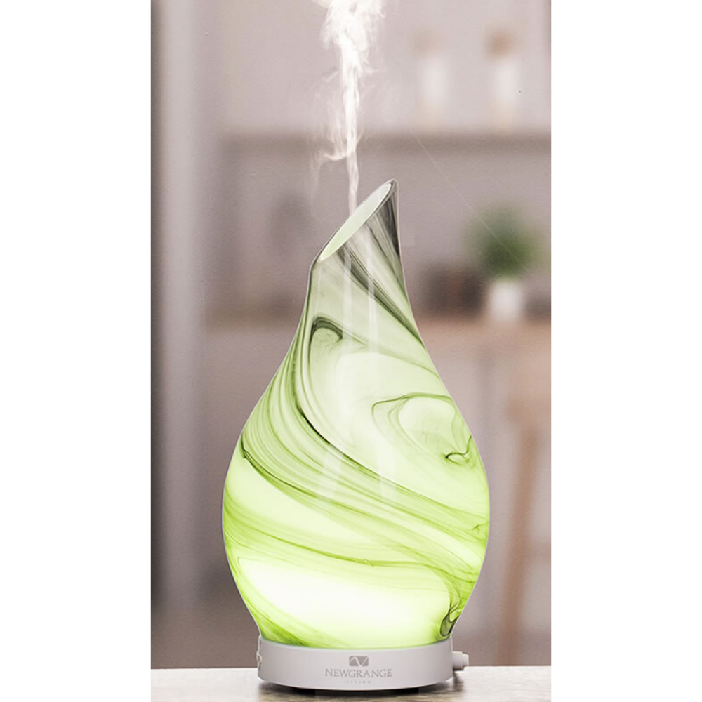 Glass Aroma Diffuser, White Base