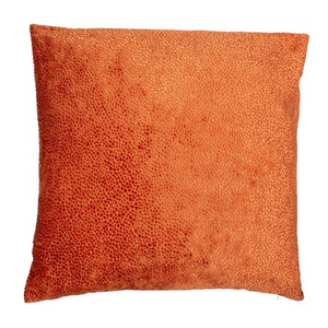 Large Bingham Orange Cushion