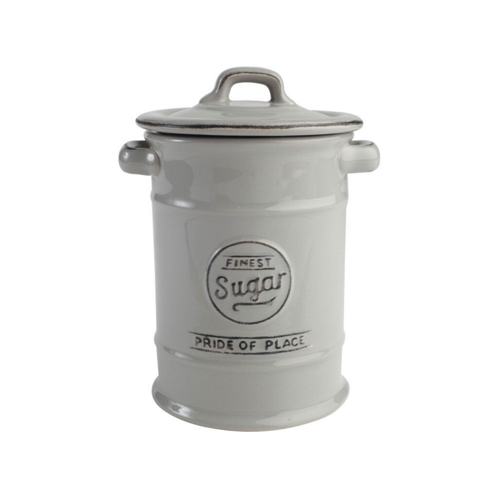 Pride Of Place Sugar Storage Jar - Cool Grey