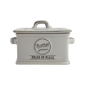 Pride Of Place Butter Dish - Cool Grey