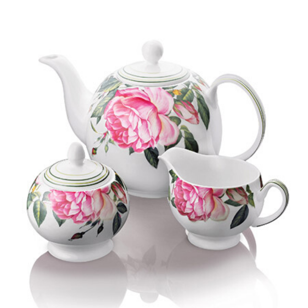 rose tea set, newbridge silverware