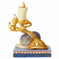 Romance by Candlelight Lumiere and Feather Duster Figurine