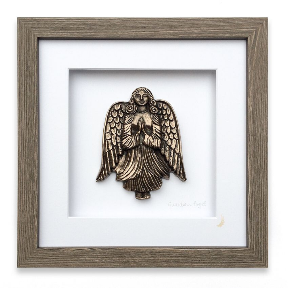 Guardian Angel of Home & Family Bronze Frame