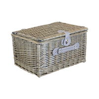4 Person Grey Checked Chiller Hamper