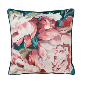 Sasha 45x45cm Cushion, Teal/Blush
