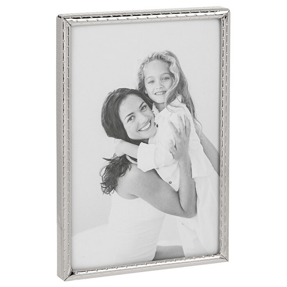 "Dotty Silver Narrow Frame 5""x7"""