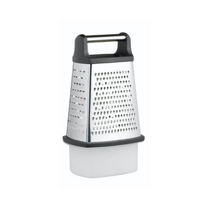 Stainless Steel Four Sided Box Grater With Collecting Box