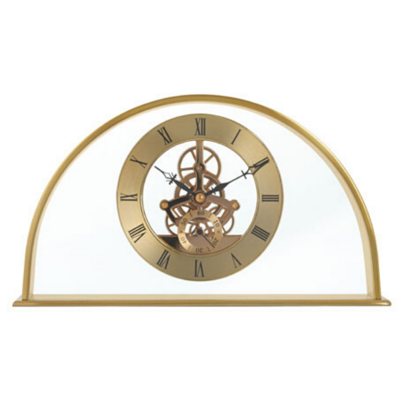 Gold Arch Mantel Clock Skeleton Movement