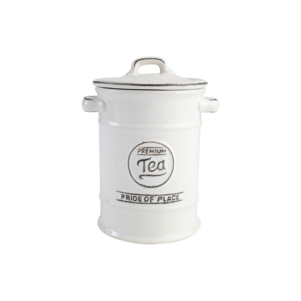 Pride Of Place Tea Storage Jar - White