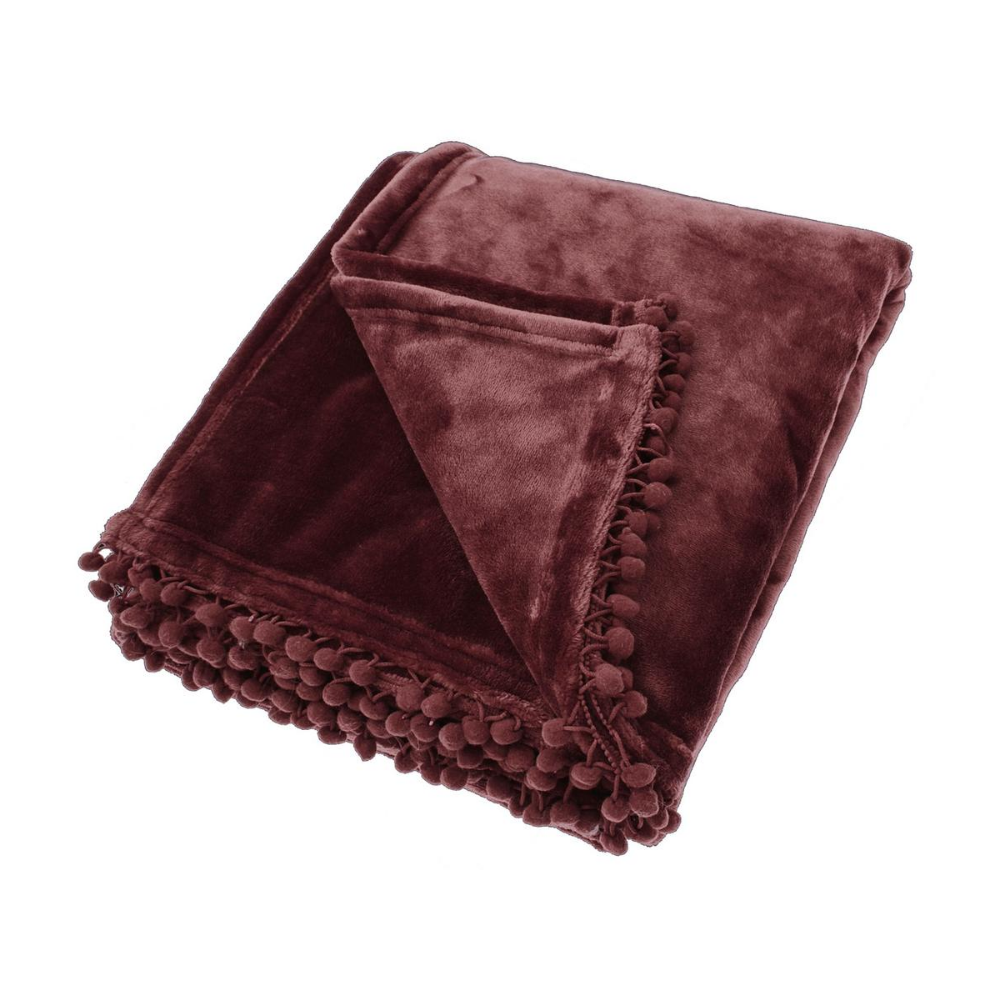 Cashmere Touch Fleece Throw - Blackberry