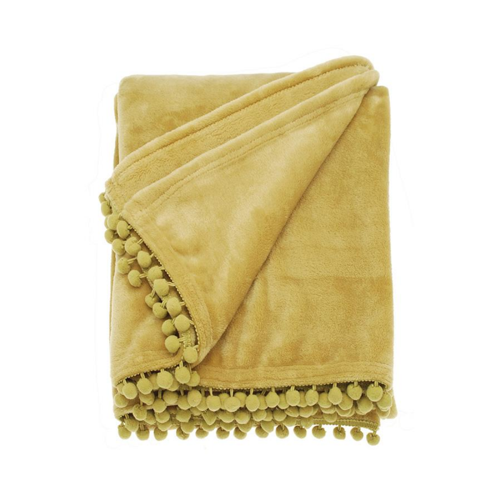 Cashmere Touch Fleece Throw - Saffron