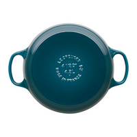Signature Cast Iron Round Casserole 28cm, Deep Teal
